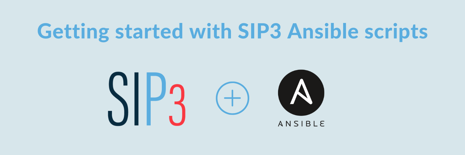 Getting started with SIP3 Ansible scripts
